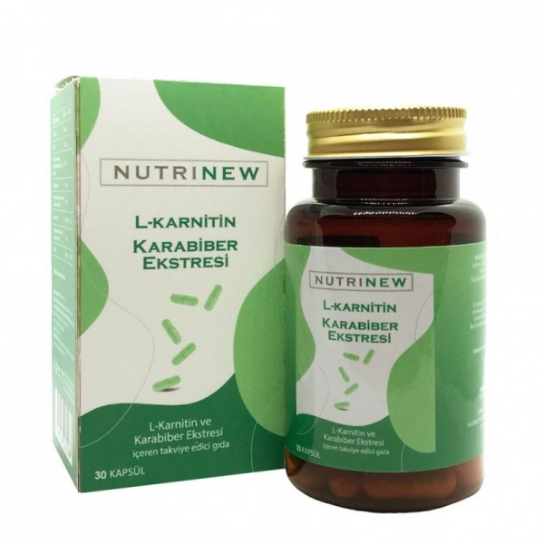NUTRINEW - L-CARNITINE - BLACK PEPPER EXTRACT 3 month treatment