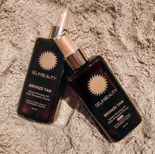Selin Beauty Bronze Tan + Bronze Tan 15 SPF + Plaj çantası